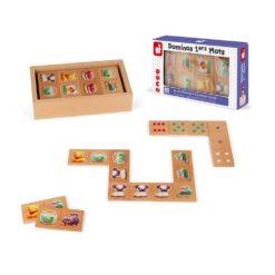 Ansicht Domino Spiel aus Holz