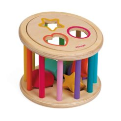 Spielzeug Rolltrommel Holz