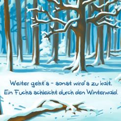 Rückseite Kinderbuch Winterwald