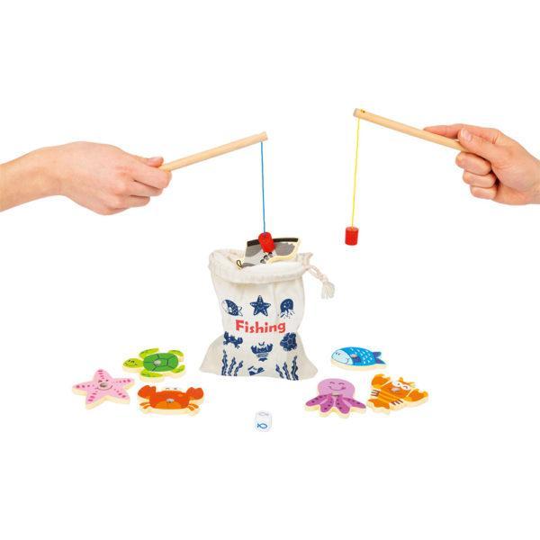 Geschicklichkeitsspiel Fische angeln aus Holz