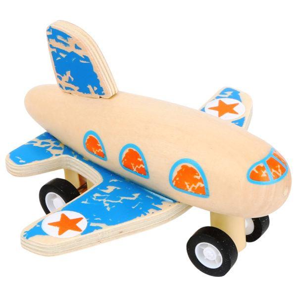 Rückzieh Flugzeug aus Holz