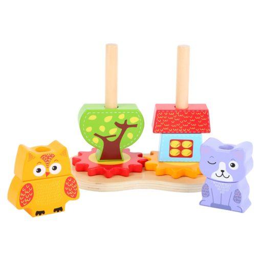 Steckspiel Tiere aus Holz
