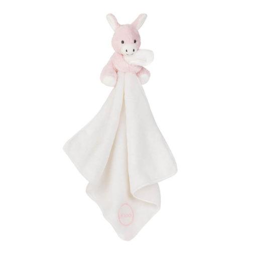 Baby Schmusetuch Esel Rosa