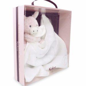 Baby Schmusetuch Esel Rosa 1
