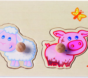 HABA Greif-Puzzle Tierkinder aus Holz