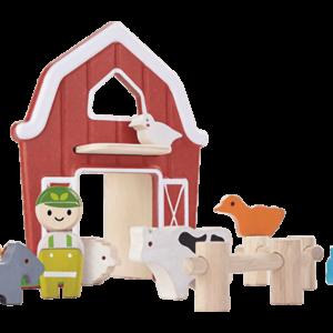 PlanToys Spiel bauernhof aus Holz ab 3 Jahre