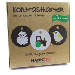 Hanniline Baby Kontrastkarten Set ab 3 Monaten