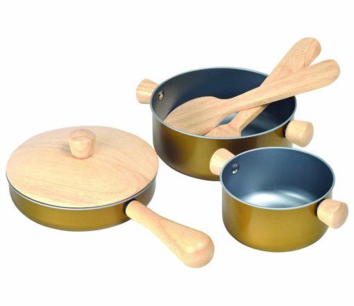 Plantoys Küchenutensilien für Kinder Zubehör Spielküche