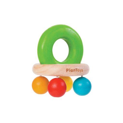 Babyspielzeug bunte Glocken-Rassel aus Holz