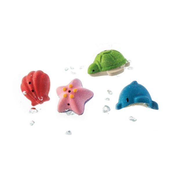 Badewannenspielzeug Meerestiere für Kinder ab 12 Monate