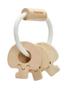 Babyspielzeug Schlüssel Rassel aus Holz