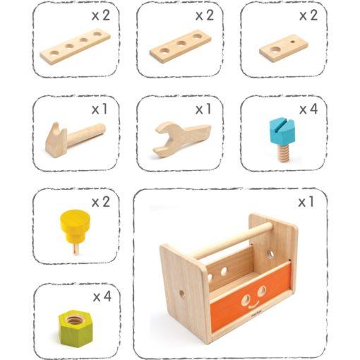 plantoys holzspielzeug werkzeugkiste kinder zubehör