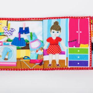 Piqipi Quiet Book - Interaktives Kinderbuch Mädchen 5