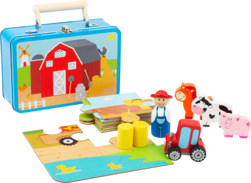 Bauernhof Spielset im Koffer