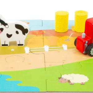 Bauernhof Spielset im Koffer 1