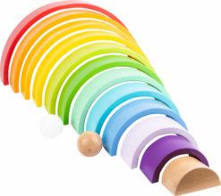 Regenbogen aus Holz groß 6