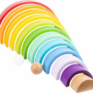 Regenbogen aus Holz groß 2