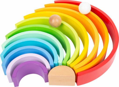 Regenbogen aus Holz groß 3