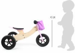 Laufrad-Trike Maxi 2 in 1 Rosa 4
