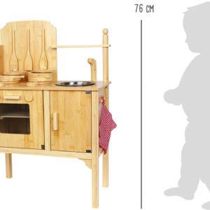 Kinderküche Bambus 3