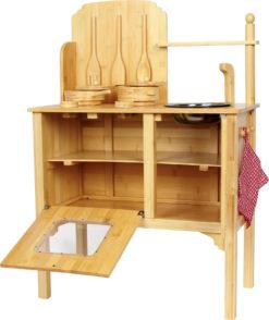 Kinderküche Bambus 4