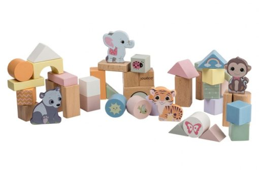 Joueco The Wildies Family - Holzbausteine in Tonne 1
