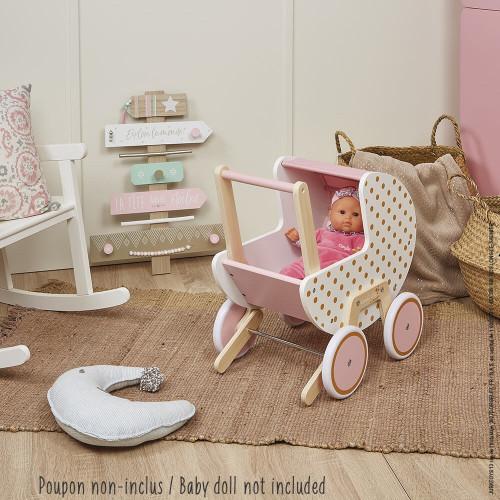 "JANOD Puppenwagen aus Holz ""Candy Chic"" 4"