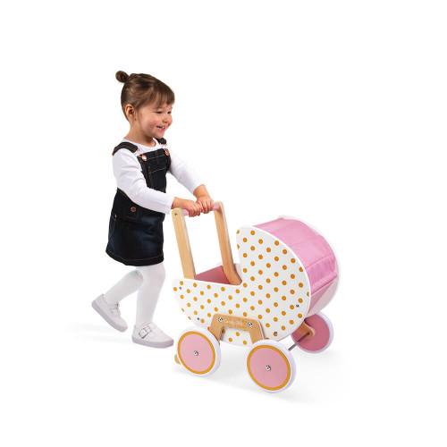 "JANOD Puppenwagen aus Holz ""Candy Chic"" 3"