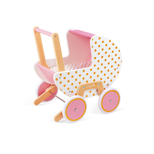 "JANOD Puppenwagen aus Holz ""Candy Chic"" 1"