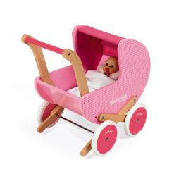 """JANOD Puppenwagen aus Holz """"Mademoiselle"""" 8"""
