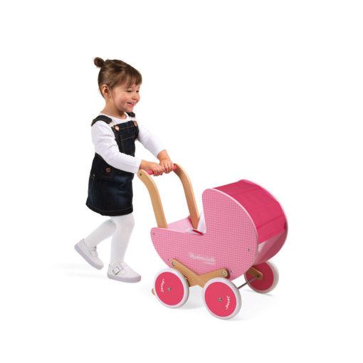 """JANOD Puppenwagen aus Holz """"Mademoiselle"""" 1"""