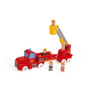 JANOD Feuerwehrauto aus Holz 1