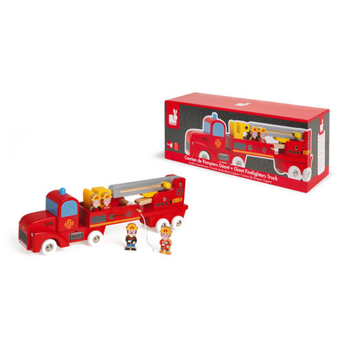 JANOD Feuerwehrauto aus Holz 2