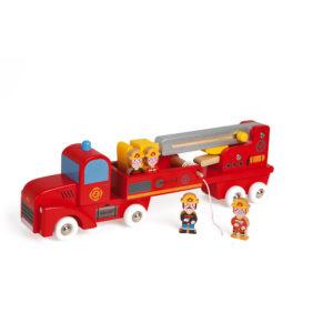 feuerwehrauto aus Holz für Kinder