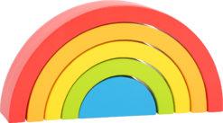 Regenbogen aus Holz klein 5