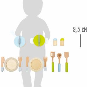 Topf- und Geschirrset Kinderküche 4