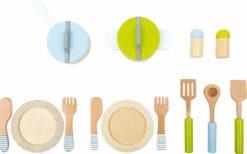 Geschirr- und Topfset Kinderküche 4