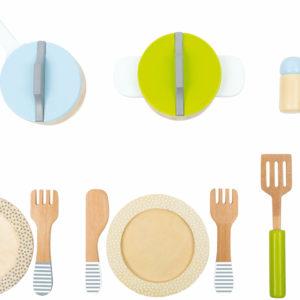 Topf- und Geschirrset Kinderküche 2