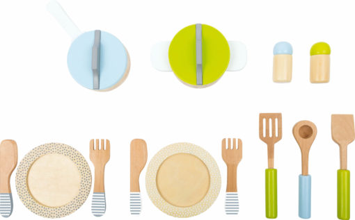 Geschirr- und Topfset Kinderküche 1