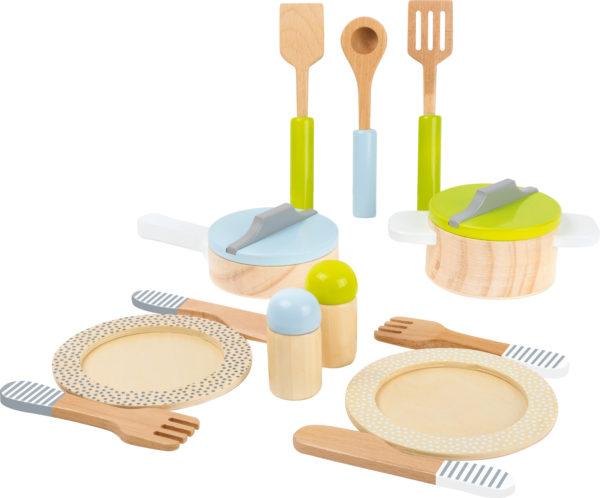 Topf- und Geschirrset Kinderküche 1