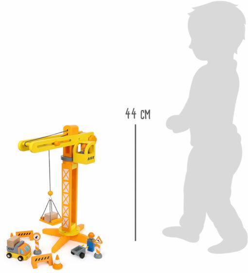 Baukran mit Baustellenzubehör 5