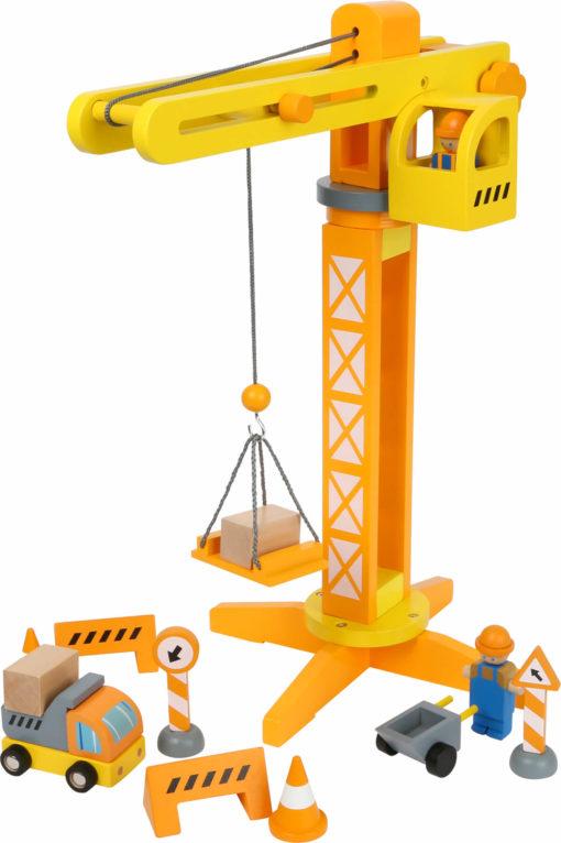 Baukran mit Baustellenzubehör 1