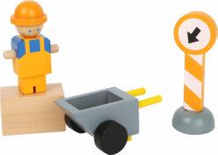 Baukran mit Baustellenzubehör 6