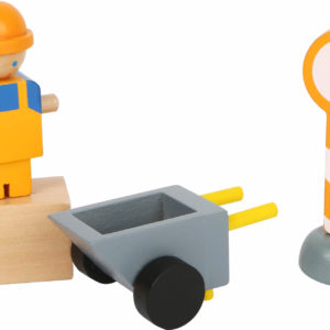 Baukran mit Baustellenzubehör 2