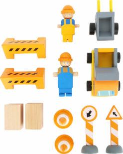 Baukran mit Baustellenzubehör 8