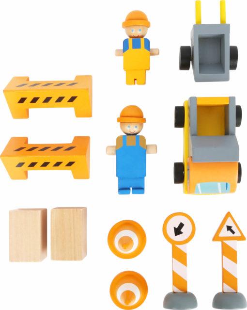 Baukran mit Baustellenzubehör 4