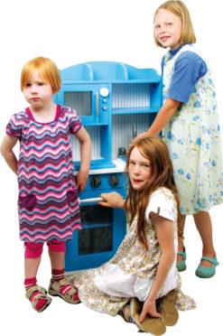 Spielküche Landhaus blau 7