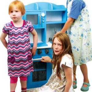 Spielküche Landhaus blau 3