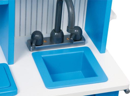 Spielküche Landhaus blau 4
