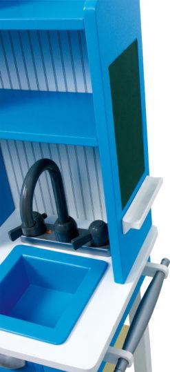 Spielküche Landhaus blau 6